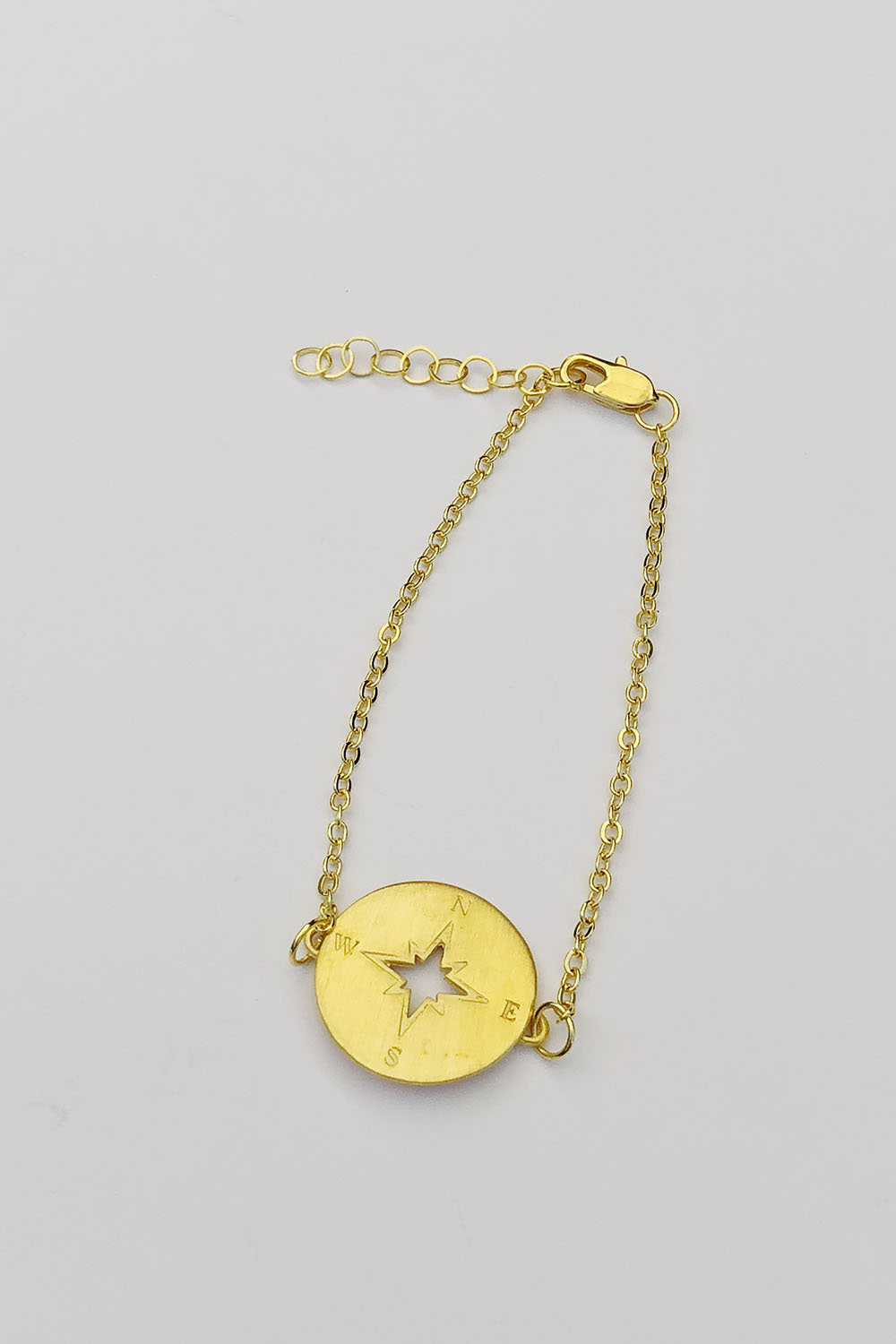 Gold plated compass bracelet