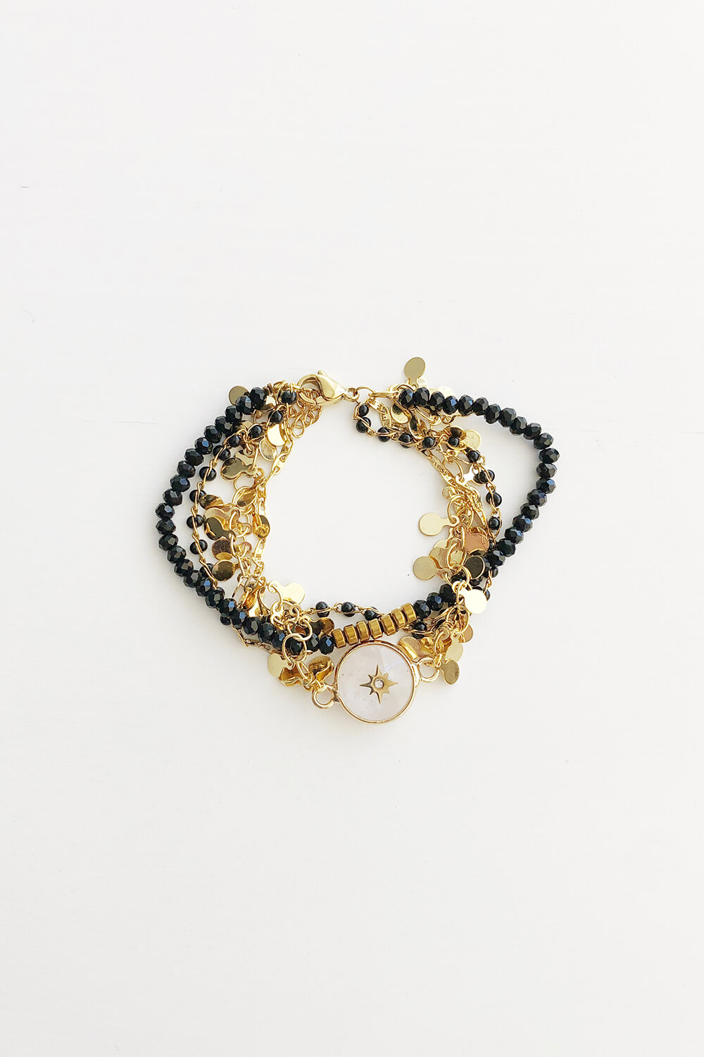 black and gold combo bracelet