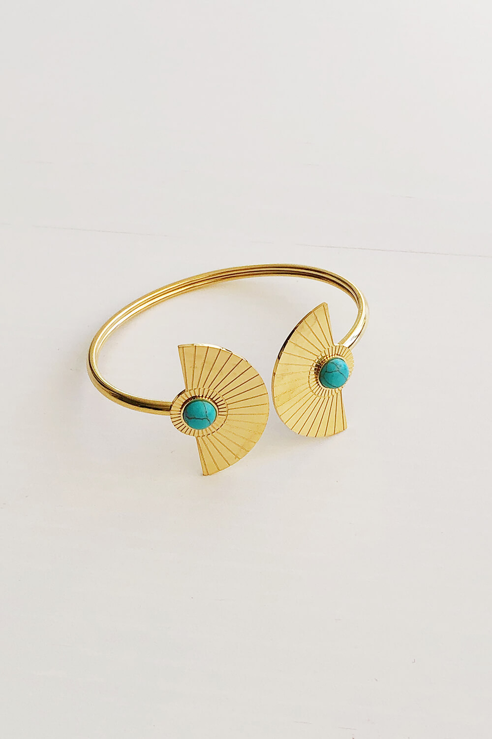 gold plated & turquoise bracelet