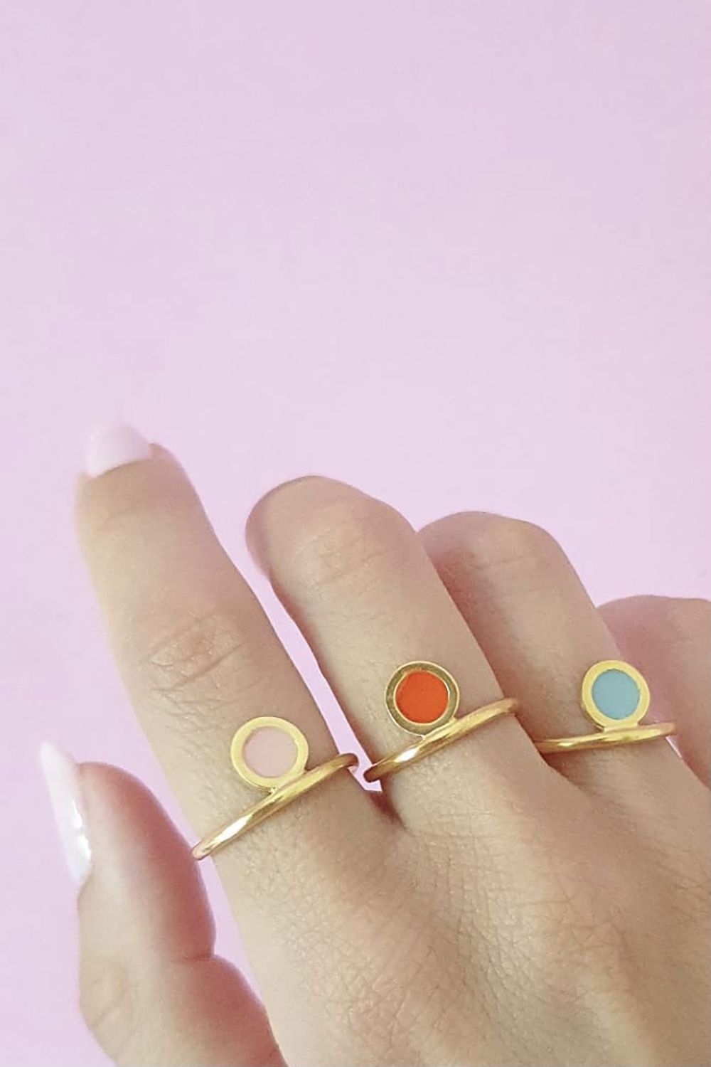 Colour ring in pink